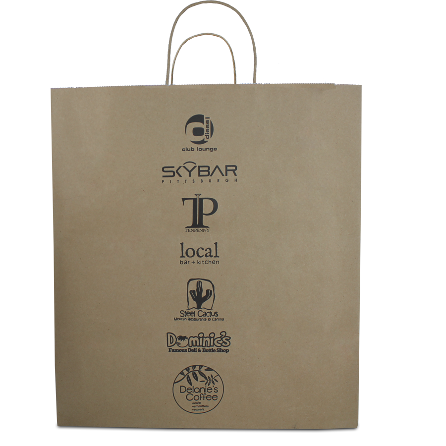 cross promotion custom carryout bag