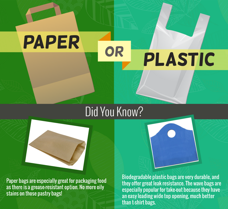 Paper or Plastic Infographic