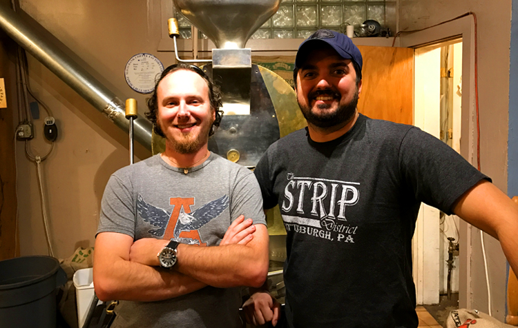 Eric and Derek - Owners at Allegheny Coffee and Tea Exchange in Pittsburgh PA