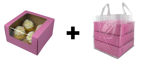 cupcake box and bag
