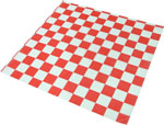Red Check Design Wax Basket Liner 12 x 12