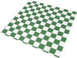 Green Check Design Wax Basket Liner 12 x 12
