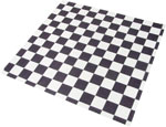 Black Check Design Wax Basket Liner 12 x 12