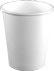 10 oz. White Paper Coffee Cups by Dopaco