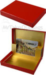 Red Gloss Design Presentation Pop-Up Gift Card Boxes
