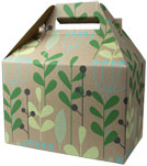 Leaves and Berries Medium Gable Boxes 8 x 4.88 x 5.25
