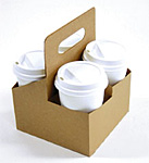 4 Cup Drink Carriers - 6.44 x 6.44 x 8.38