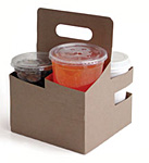 4 Cup Tall Drink Carriers - 6.94 x 6.94 x 9.19