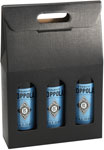 Nero Black Embossed 3-Bottle Wine Carrier Boxes
