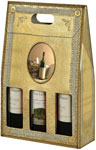 LUX Designs Three Bottle Wine Carrier Boxes