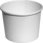 64 oz. Plain White BULK Soup , Ice Cream or Food Container