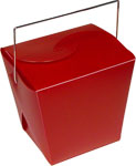 Mini Burgundy Frosted Chinese Take Out Boxes - 2.75 x 2 x 2.5