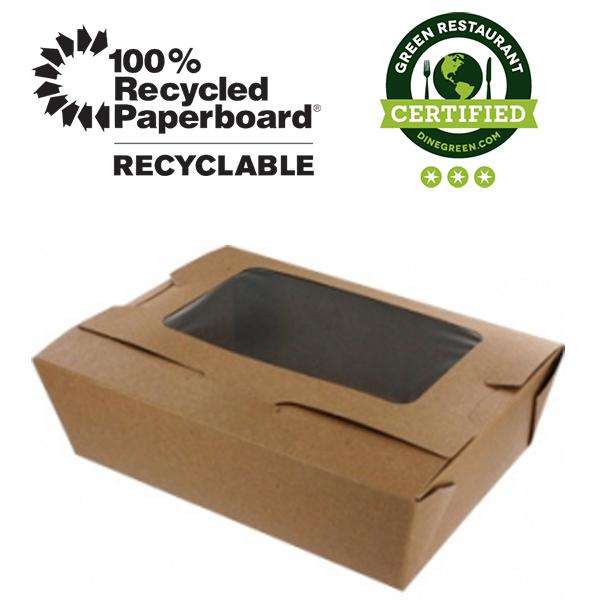 Bio Plus 3 View Earth 100 Recycled Kraft Windowed Take