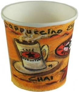 4 Oz Coffee Revolution Design Hot Drink Paper Cups