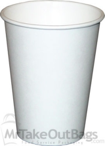 Plain Coffee Cup | 12 oz. Paper Cup | MrTakeOutBags