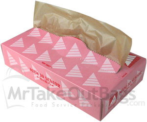 Natural Unbleached Kraft Brown Medium Deli / Bakery Tissue