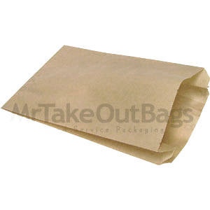Large Natural Brown Kraft Grease Resistant Paper Sandwich Bags 6 X 2 9