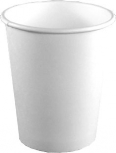 10 Oz White Paper Coffee Cups By Dopaco