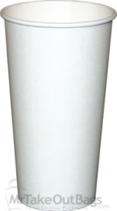 24 Oz White Paper Coffee Cups By Dopaco