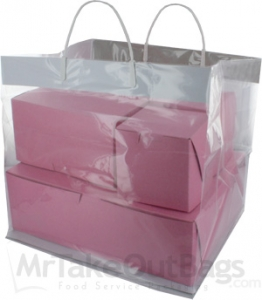 Clear Take Out Bags With Handle 12 5 X 10