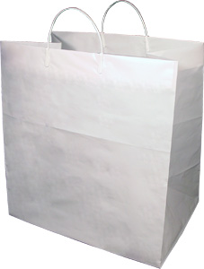 HDPE Heavy Cake Plastic Shopping Bags with Rigid Handle - 14 x 10 ...