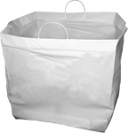 Rigid Handle Plastic Shopping Bags | MrTakeOutBags