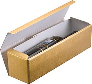 Oro Matte Gold Single Bottle Wine Box Imported Wine