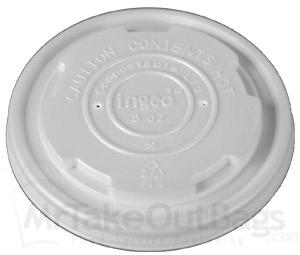 Compostable PLA Vented LIDS - for 8 oz  Planet + soup