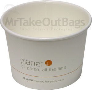 16 oz  Planet Plus Compostable Paper Soup, Ice Cream or Food