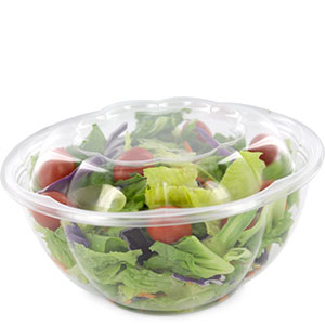 32 Oz Salad Bowl Container With Lid Clear Plastic Bowls