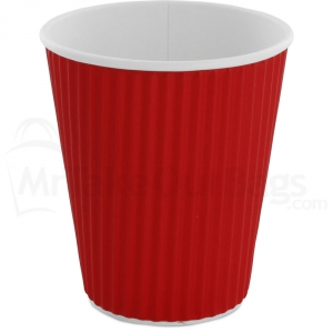 12 oz red insulated ripple wrap paper coffee cups red ripple
