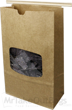Recycled Natural Brown Kraft Cookie Chips Tin Tie Bags W