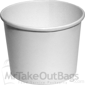 64 Oz Plain White Bulk Soup Ice Cream Or Food Container