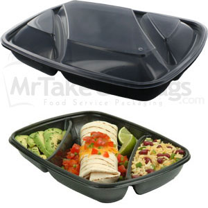3 Compartment Sabert Fastpac To Go Container Amp Lids Meal
