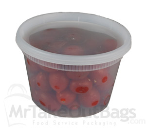 16 Oz Microwaveable Round Newspring Delitainer Style
