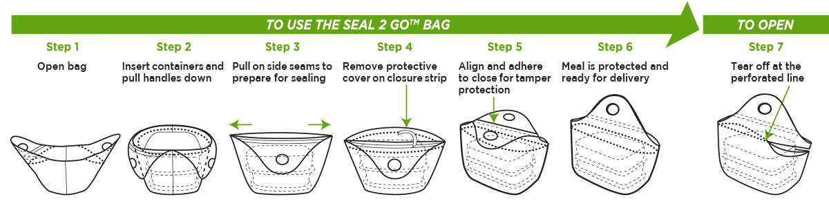 Seal 2 Go Tamper Evident Takeout Bags